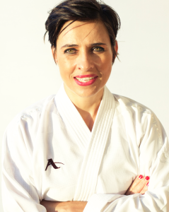 Karin Prinsloo 6th Dan JKA (Japanese Karate Association) Based in Durban South Africa.